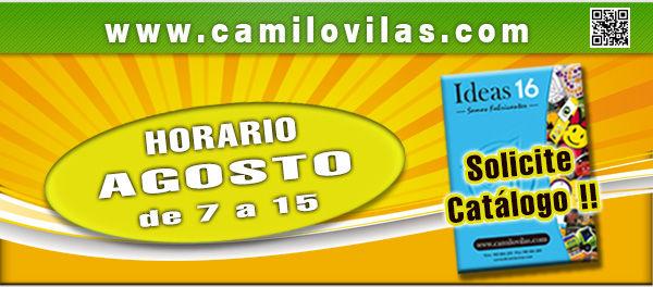 Camilo Vilas horario agosto 2016