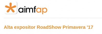 Alta Expositor Aimfap - Roadshows 2017