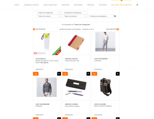 Buscador de productos AIMFAP