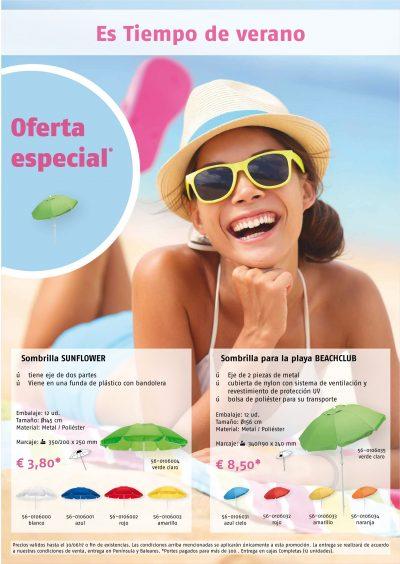 Oferta especial sombrillas